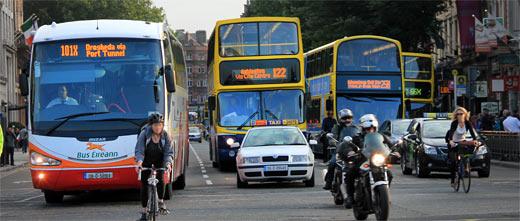 Bus fahren in dublin